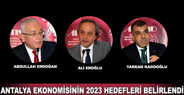 Antalya ekonomisinin 2023 hedefleri belirlendi