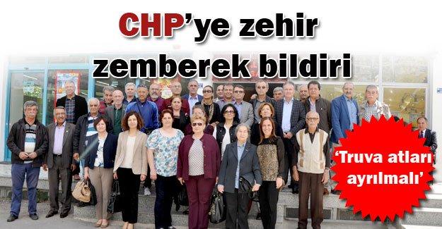 CHP'ye zehir zemberek bildiri