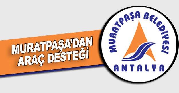 Muratpaşa'dan araç desteği