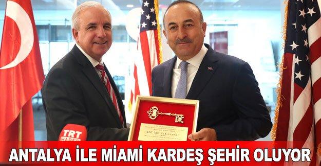 Antalya ile Miami kardeş şehir oluyor