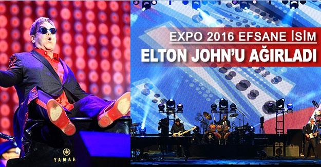 EXPO 2016 efsane isim Elton John'u ağırladı