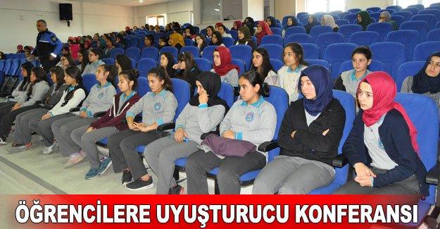 Öğrencilere uyuşturucu konferansı