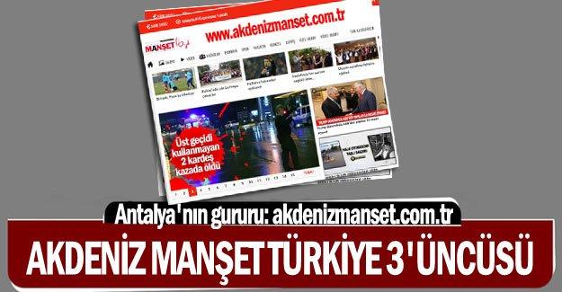 Akdeniz Manşet Türkiye 3'üncüsü