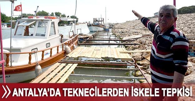 Antalya'da teknecilerden iskele tepkisi