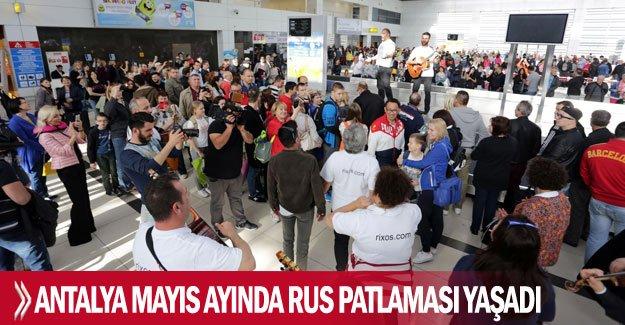 Antalya mayıs ayında Rus patlaması yaşadı