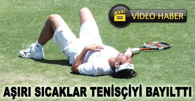Aşırı sıcaklar tenisçiyi bayılttı