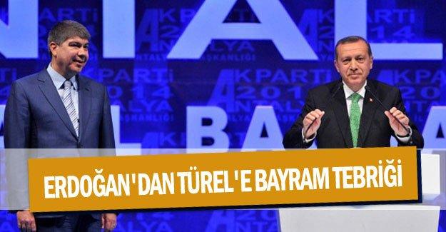 Cumhurbaşkanı Erdoğan'dan Türel'e bayram tebriği