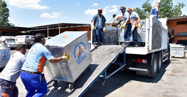 'Kardeş belediye' İbradı'ya konteyner