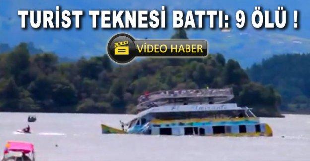 Turist teknesi battı: 9 ölü !