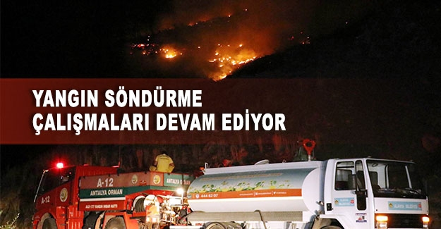 Yangın söndürme çalışmaları devam ediyor