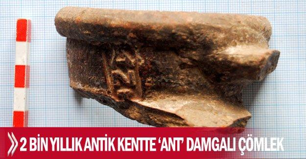 2 bin yıllık antik kentte 'ANT' damgalı çömlek