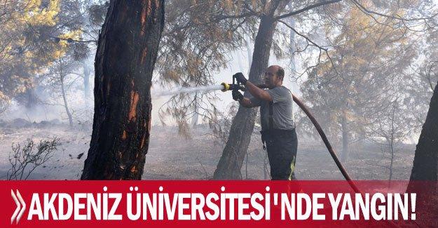 Akdeniz Üniversitesi'nde yangın!