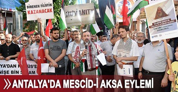 Antalya'da Mescid-i Aksa eylemi