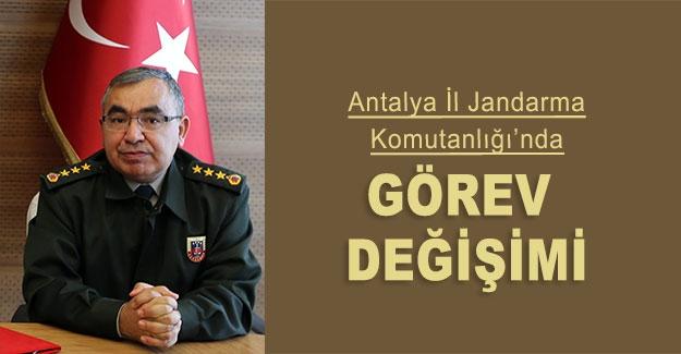 Antalya İl Jandarma Komutanlığı'nda görev değişimi