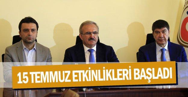 Antalya'da 15 Temmuz etkinlikleri başladı