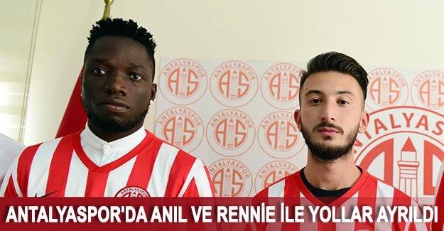 Antalyaspor'da Anıl ve Rennie ile yollar ayrıldı