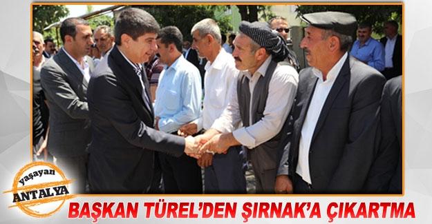 Başkan Türel'den Şırnak'a çıkartma