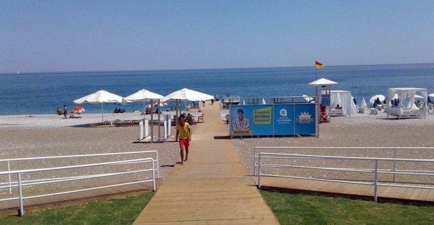 Engeliler Plajı'na çirkin saldırı