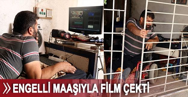 Engelli maaşıyla film çekti