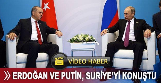 Erdoğan ve Putin, Suriye'yi konuştu