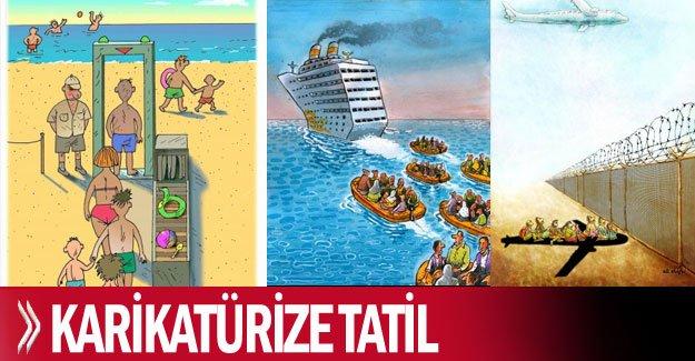 Karikatürize tatil