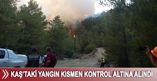 Kaş'taki yangın kısmen kontrol altına alındı