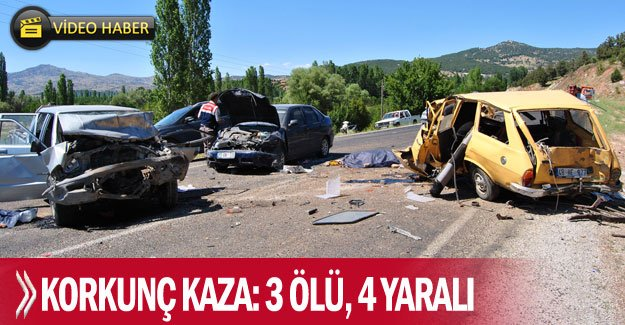 Korkunç kaza: 3 ölü, 4 yaralı