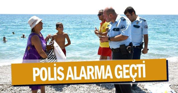 Polis alarma geçti