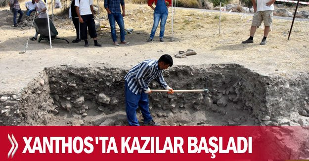 Xanthos'ta kazılar başladı