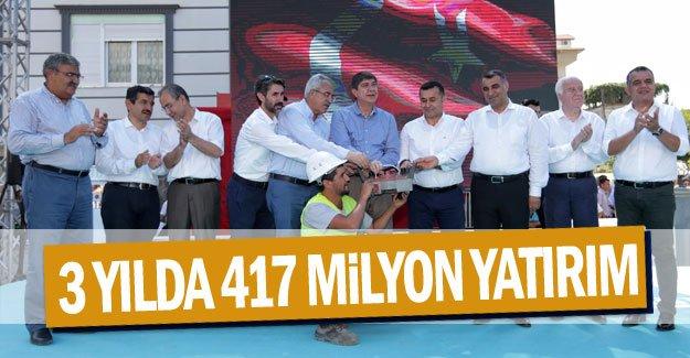 Alanya'ya 3 yılda 417 milyon yatırım