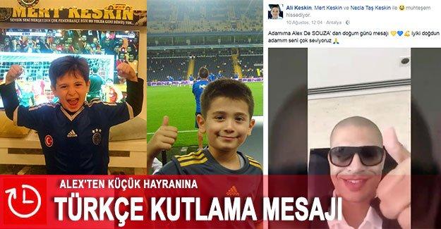 Alex'ten küçük hayranına Türkçe kutlama mesajı