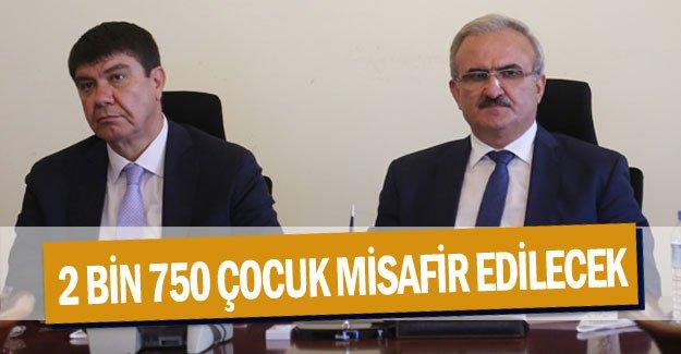 2 bin 750 çocuk Antalya'da misafir edilecek