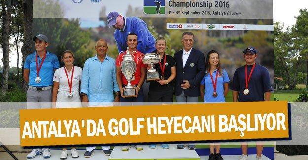 Antalya'da golf heyecanı başlıyor