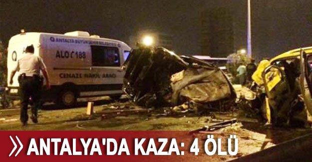 Antalya'da kaza: 4 ölü