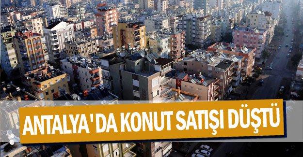 Antalya'da konut satışı düştü