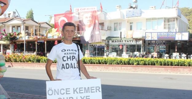"""CHP üyesinin """"Önce CHP'de Adalet"""" yürüyüşüne OHAL engeli"""