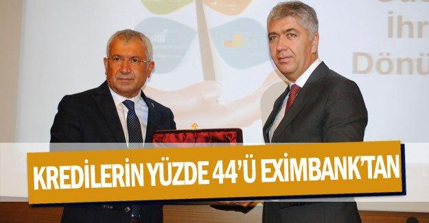 Kredilerin yüzde 44'ü Eximbank'tan