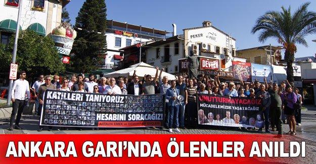 Ankara Garı'nda ölenler anıldı