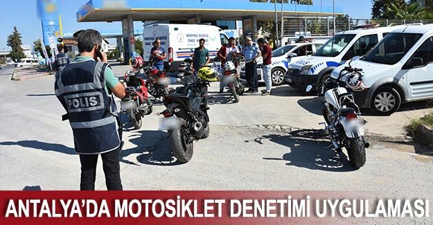 Antalya'da Motosiklet Denetimi Uygulaması