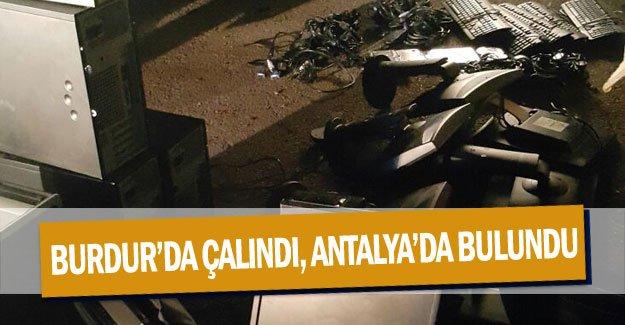 Burdur'da çalındı, Antalya'da bulundu