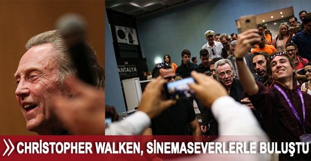Christopher Walken, sinemaseverlerle buluştu
