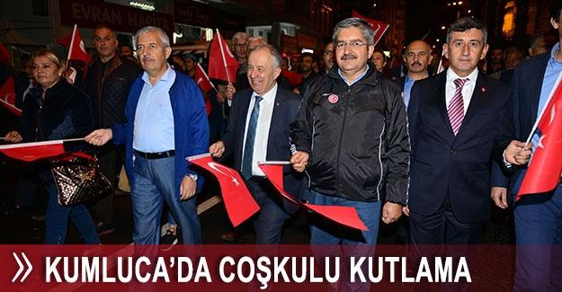Kumluca'da coşkulu Cumhuriyet kutlaması