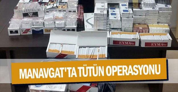 Manavgat'ta tütün operasyonu
