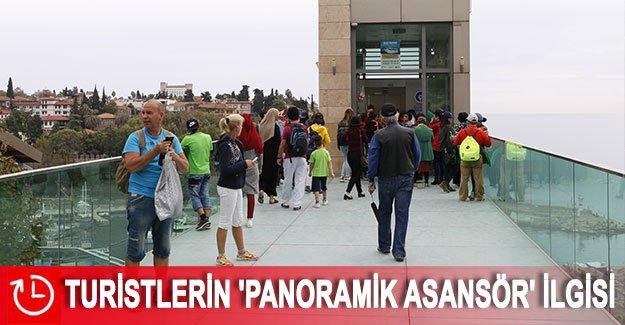 Turistlerin 'panoramik asansör' ilgisi