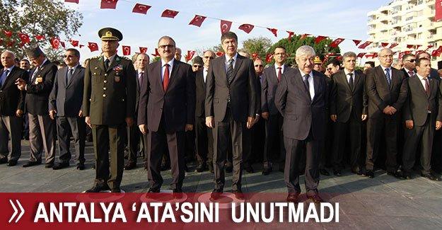 Antalya 'Ata'sını  unutmadı