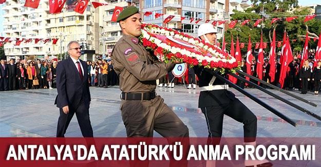 Antalya'da Atatürk'ü anma programı