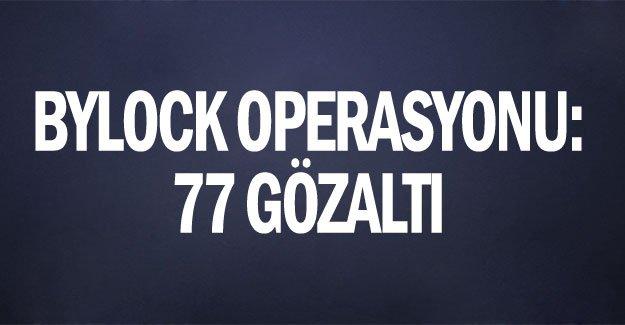 Antalya'da Bylock operasyonu: 77 gözaltı