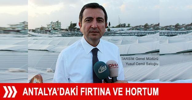 Antalya'daki fırtına ve hortum