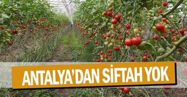 Antalya'dan siftah yok