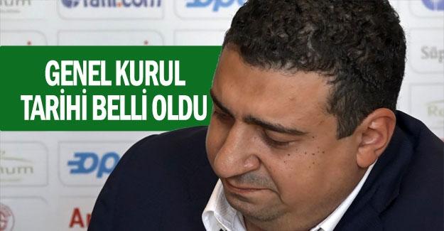 Antalyaspor'da genel kurul tarihi belli oldu